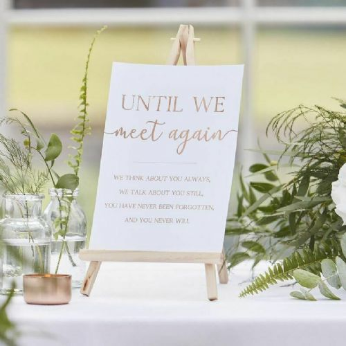 Memory Table Sign & Easel